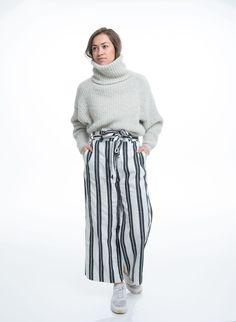 Nikki knitted sweater, Strikket genser Trendige strikkede