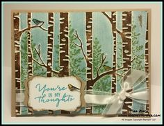 Hiya! Today's card is cool technique you can use with the Woodland Embossing Folder.  It's a great way to have stamped images, such as t...