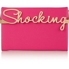 Charlotte Olympia Shocking Vanina textured-leather box clutch (€425) ❤ liked on Polyvore featuring bags, handbags, clutches, fuchsia, charlotte olympia handbags, fuschia handbag, handbags purses, charlotte olympia clutches and hand bags