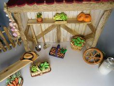 No Rancho tudo vem fresquinho da nossa mini horta - nem parecem miniaturas, olhem os detalhes!