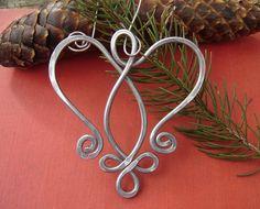 Celtic Angel Heart Ornament - Tree Ornament Aluminum Wire - Christmas Ornament