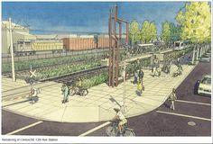 SE 12th Ave & Clinton Station Station Plan - Portland-Milwaukie Light Rail (Orange line)