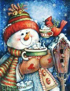 "Warm Wishes Snowman House Flag Christmas Winter Hot Cocoa Seasonal 28"" x 40"""