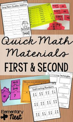 Second Grade Nest: Quick Math Resources