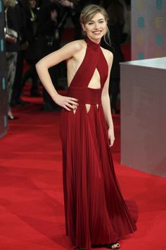 The British Academy of Film and Television Arts (BAFTAs) 2014 Red Carpet Dresses: Imogen Poots wore a Givenchy