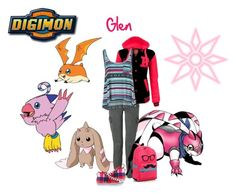"""Glen Travel Digimon!!!"" by fany-812 ❤ liked on Polyvore featuring J Brand, adidas and Billabong"
