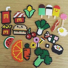 Food hama beads by simony43