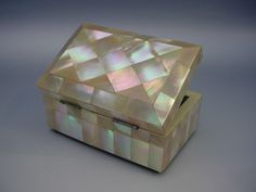 Wonderful Antique Mother of Pearl  Hinged Box