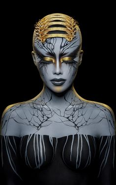 The best photos in the world: Societies of Photographers 2017 Awards, the finalists - This futuristic model was runner-up in the Advertising and Commercial category and taken by America - Fantasy Makeup, Fantasy Art, Photographie Art Corps, Futuristic Makeup, Art Visage, Art And Illustration, Maquillage Halloween, Creative Portraits, Makeup Art