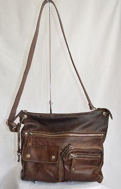 Fossil Soft Leather Sutter Cross Body Large Handbag Purse Vintage Bag Shoulder | eBay