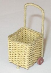 Weave your own miniature dolls house shopping trolley