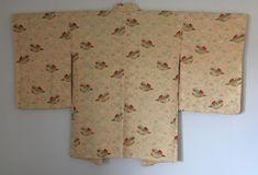 Vintage Japanese Kimono Haori Jacket Silk wild duck