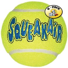 Kong Company Med Tennis Ball (Pack of 6 Balls) *** New and awesome dog product awaits you, Read it now  : Kong dog toys