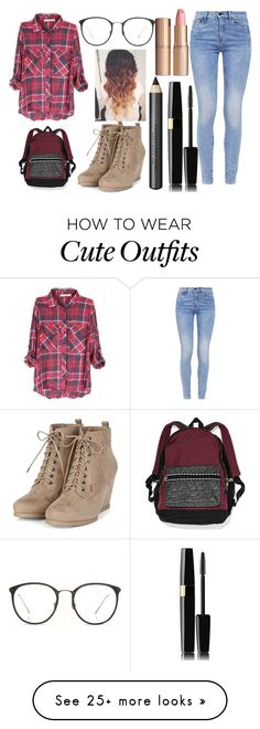"""Cute outfit"" by emma333333 on Polyvore featuring Linda Farrow, G-Star, Victoria's Secret, Charlotte Tilbury and Burberry"
