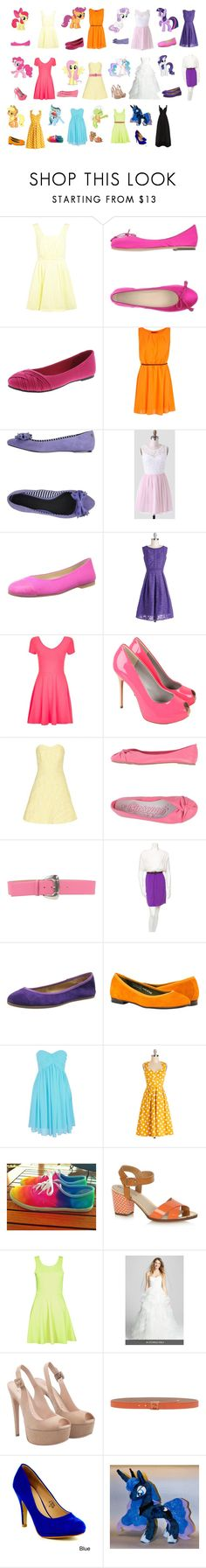"""""""Mlp Dresses"""" by avellines ❤ liked on Polyvore featuring My Little Pony, Miss Selfridge, Boohoo, Diesel, French Sole FS/NY, Pink Martini, Bourne, Alice + Olivia, Gioseppo and Giordano Frangipani"""
