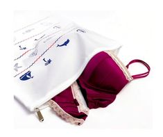 Nautical print 100% nylon laundry wash bags are ideal for protecting your hosiery, delicates and lingerie during the wash cycle. Our bags provide clean, flawless, well-maintained pieces in every wash, and nurture delicate fabrics such as lace, silk, embroidered and embellished garments and pieces and more. Available in regular and large sizes and other fun prints.
