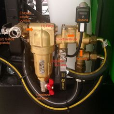 Conjunto de electroválvula montado en un atomizador