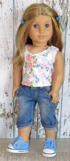Silly Monkey - Rose Tank and Denim Capris, $16.99 (http://www.silly-monkey.com/products/rose-tank-and-denim-capris.html)