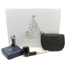 Chacom 185 Ans Gift Set (Pipe, Lighter & Tobacco Pouch) - GQ Tobaccos