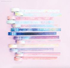 Your place to buy and sell all handmade things Watercolor Washi Tape / Pastel Gradation Masking Tape / Scrapbooking / Decoration / Planner Sticker Album Polaroid, Photo Polaroid, Cute School Supplies, Craft Supplies, Planner Stickers, Ciel Nocturne, Solar Licht, Crafts For Teens, Teen Crafts