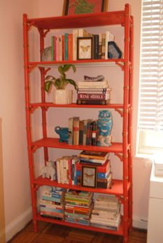 .large colorful bookcase
