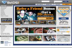 Diamond Sportsbook our  sportsbook, sister book of bookmaker offers slightly better bonuses!
