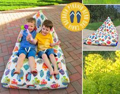 Pyramid Bean Bag Chair: Fabric Depot | Sew4Home free sewing pattern sewing tutorial