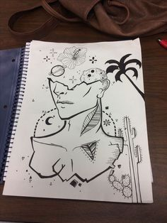 drawin i did combined with multiple ive seen drawin i did combine. - My Hi House Space Drawings, Cool Art Drawings, Pencil Art Drawings, Art Drawings Sketches, Doodle Drawings, Doodle Art, Art And Illustration, Arte Sketchbook, Art Journal Inspiration