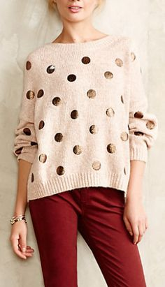 Dot sweater #AnthroFave http://rstyle.me/n/rjiw6n2bn