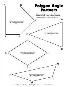 Polygon Angle Partners freebie in Laura Candler's geometry file cabinet