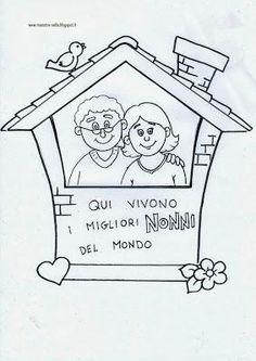 Festa dei nonni: quadretto da appendere!