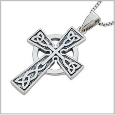 Bold+Celtic+Cross+Necklace