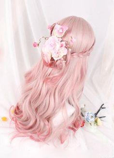 Kawaii Hairstyles, Pretty Hairstyles, Wig Hairstyles, Anime Wigs, Anime Hair, Pastel Wig, Kawaii Wigs, Lolita Hair, Kpop Hair