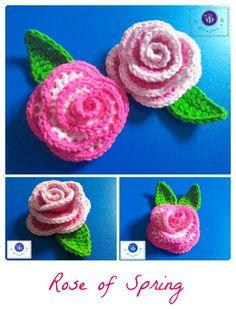 Crochet rose of Spring - Maz Kwok's Designs