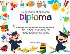 7 Diplomas para culminación de estudios preescolares ~ Educación Preescolar Preschool Graduation, Graduation Photos, Certificate, Templates, Education, Ideas Para, Grande, Photography, Activities