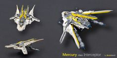 Mercury class Interceptor - details   by Brick Martil