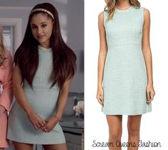 WHO: Ariana Grande as Chanel #2 WHAT: Kate Spade New York Sequin Tweed A Line Dress - $224.99 WHERE: Scream Queens Season 1 WORN WITH: Henri Bendel satchel