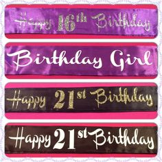 Birthday Sashes :)