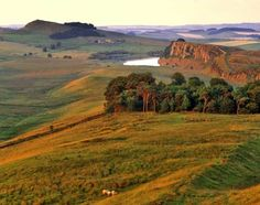 "pagewoman: "" Crag Lough, Hadrian's Wall, Housesteads, Northumberland, England "" Northumberland National Park, Northumberland England, North East England, Yorkshire Dales, British Isles, Beautiful Landscapes, Monument Valley, Britain, Hadrian's Wall"