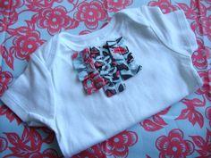 Ruffle Onesie - size 9 months $12 #etsy #baby #onesie #ruffle #girls