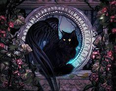 Cat Art...=^.^=... ❤...Mystic Cat...By Artist MelieMelusine@deviantART.com...