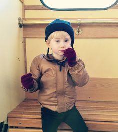 Retro kids winter jacket. Scandinavian 80s by lillamormor on Etsy
