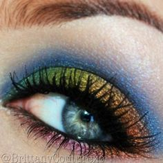 #TBT #Throwback A wearable rainbow eyeshadow look that I did a year ago. Check out my facebook page if you want to see more old looks  Facebook.com/BrittanyCoutureXo - @brittanycouturexo- #webstagram