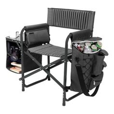 Picnic Time Fusion Camping Chair In Dark Grey/