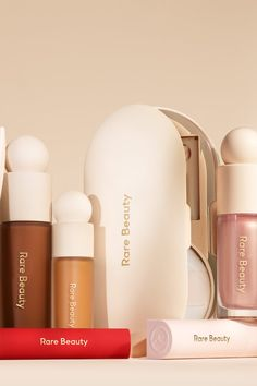 A First Look At Selena Gomez's Rare Beauty Products Selena Gomez, Sephora, New Cosmetics, Gold Letters, Makeup Collection, How To Raise Money, Concealer, Beauty Makeup, Eyeliner