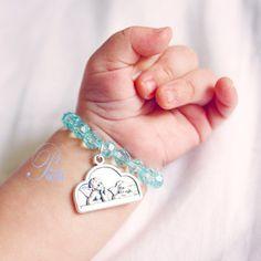 Baby boy baptism bracelet. $17.00, via Etsy. I love this!
