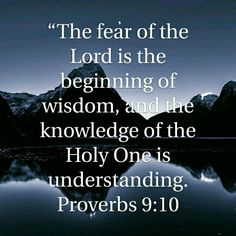 Proverbs 9:10 HCSB