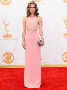 Emmy Awards 2013 - red carpet dresses ::  Rose Byrne looks beautiful in pastel pink