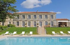 Domaine de Bagatelle is an exceptional century French mansion rental with private pool in Aquitaine. Aquitaine, French Mansion, Snug Room, French Exterior, Destinations, Dordogne, Luxury Holidays, Maine House, Private Pool