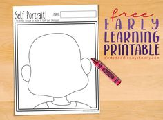 Self Portrait Printable Worksheet – Great fun for school projects for any age! Toddler Classroom, Classroom Ideas, Printable Worksheets, Printables, Phonics Games, Back To School Crafts, Head Start, Early Learning, School Projects